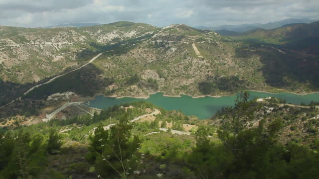 forest and a lake on trodos area, cyprus - republic of cyprus stock videos & royalty-free footage