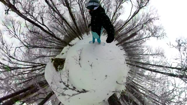 forest boarding - 360 video stock videos & royalty-free footage