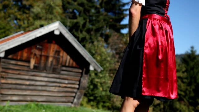 vídeos y material grabado en eventos de stock de bosque de pareja - vestido tradicional