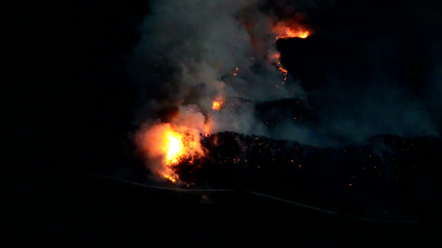 forest fire, aerial view - hill stock videos & royalty-free footage