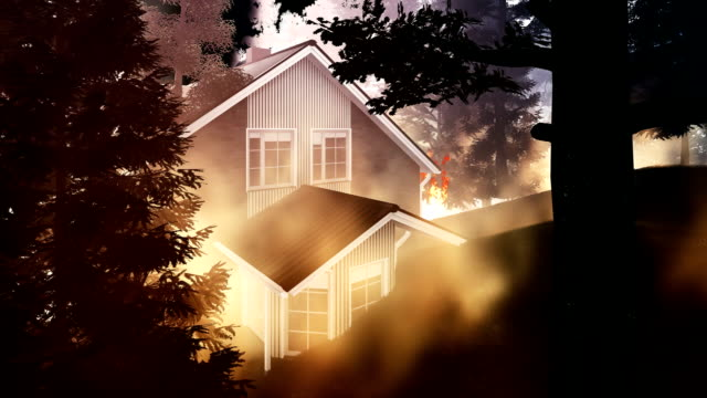 forest fire surrounding american house - surrounding stock videos and b-roll footage