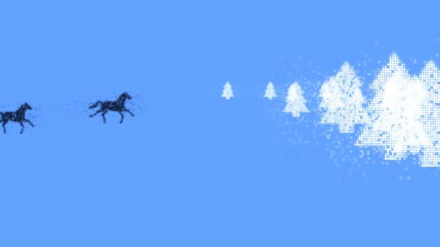 vídeos de stock, filmes e b-roll de cavalos: forest (transição - manipulação digital