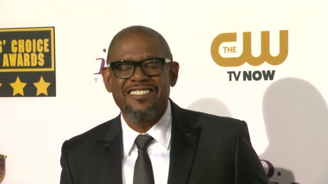 forest whitaker at 19th annual critics' choice movie awards - arrivals at the barker hanger on in santa monica, california. - critics' choice movie awards stock videos & royalty-free footage