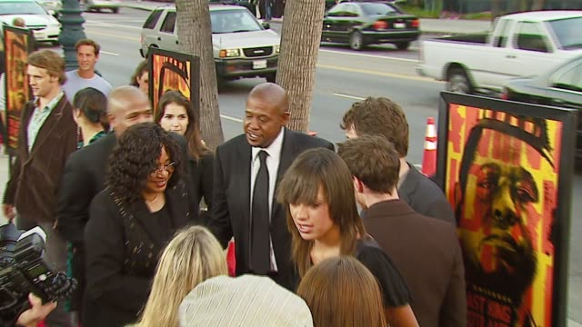 forest whitaker at the 'the last king of scotland' premiere and arrivals at academy of motion picture arts & sciences in beverly hills, california on... - academy of motion picture arts and sciences stock-videos und b-roll-filmmaterial