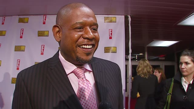 forest whitaker on the most exciting thing about the night at the broadcast film critics association's 2007 critic's choice awards at santa monica... - ブロードキャスト映画批評家協会点の映像素材/bロール