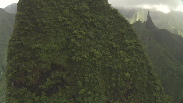 forested peaks and deep valleys, tahiti, french polynesia - tahiti stock videos & royalty-free footage