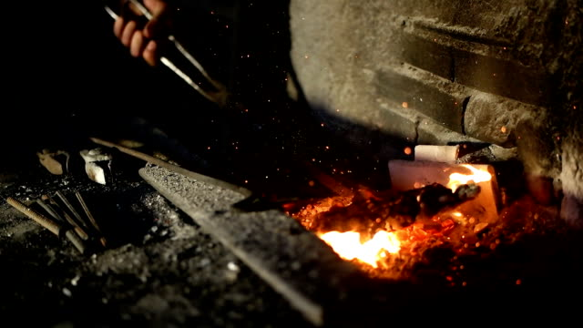forge in blacksmith's workshop - moulding a shape stock videos & royalty-free footage