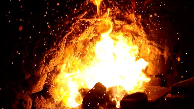 forge in blacksmith's workshop - blacksmith stock videos & royalty-free footage