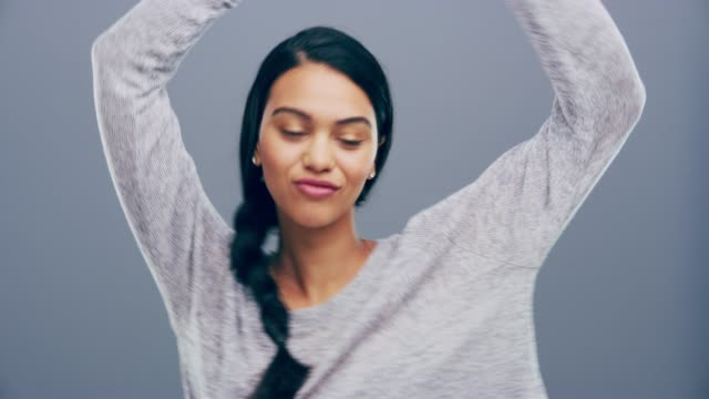 forget about your worries and just dance! - black hair stock videos & royalty-free footage
