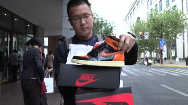 forget stocks real estate even cryptocurrencies china's hottest investment nowadays may be the nike adidas and puma basketball shoes that... - puma stock videos & royalty-free footage