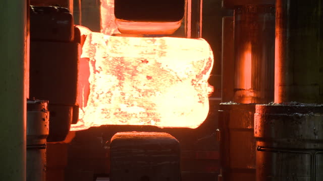 MS Forging machine being used at factory / Remscheid, North Rhine Westphalia, Germany