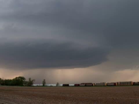 Forked lightning under supercell storm daytime, WA, USA