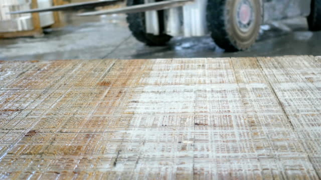 Forklift  carring  marble  in marble factory