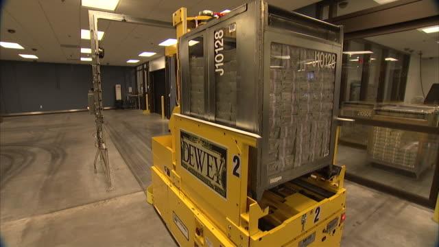MS ZO Forklift carrying stacks of money / Kansas City, Kansas, United States