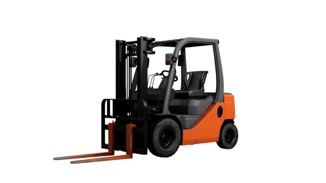 forklift spin isolated with luma matte - manufacturing machinery stock videos & royalty-free footage