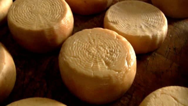 牛のチーズ - シェーブルチーズ点の映像素材/bロール
