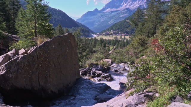 formazza valley, creeck alpe devero - piedmont italy stock videos & royalty-free footage