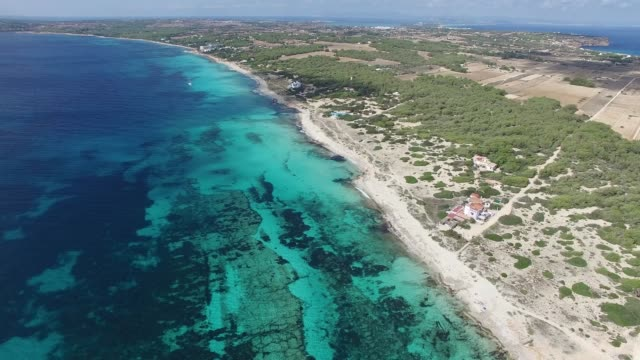 formentera from the air - balearic islands stock videos and b-roll footage