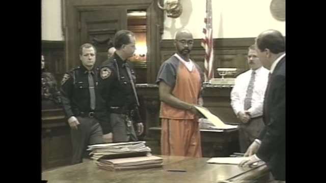 WJW Former Akron police Capt Douglas Parade Enters Courtroom for Trial in which he faced charges of murdering his former wife Margo in 1997 in Akron...
