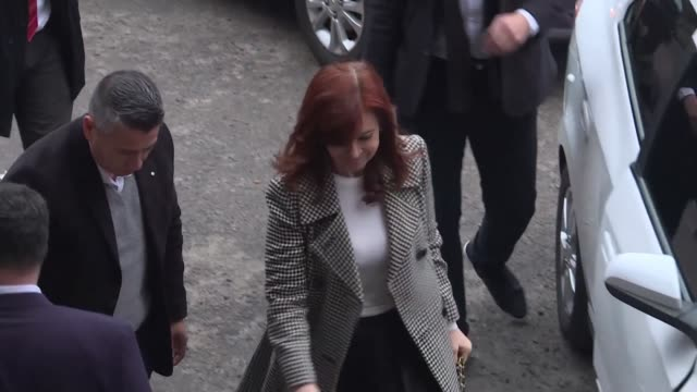former argentine president and current senator cristina fernandez de kirchner arrives in court to attend the second hearing for an ongoing corruption... - court hearing stock videos and b-roll footage