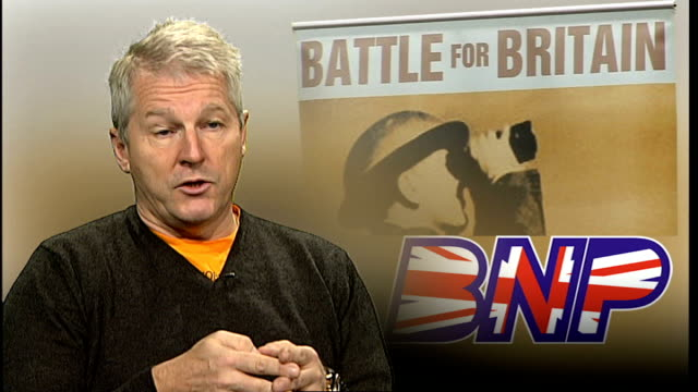 Former army leaders accuse BNP of hijacking the good name of Britain's military ENGLAND London INT Collins interview SOT