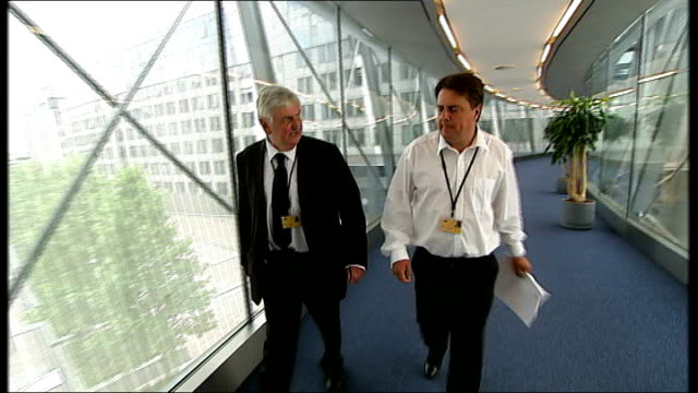 Former army leaders accuse BNP of hijacking the good name of Britain's military R09070906 Brussels European Parliament INT British National Party...