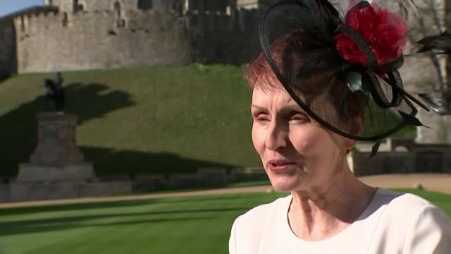 Former astronaut Helen Sharman honoured ENGLAND Berkshire Windsor Windsor Castle EXT helen Sharman CMG interview SOT