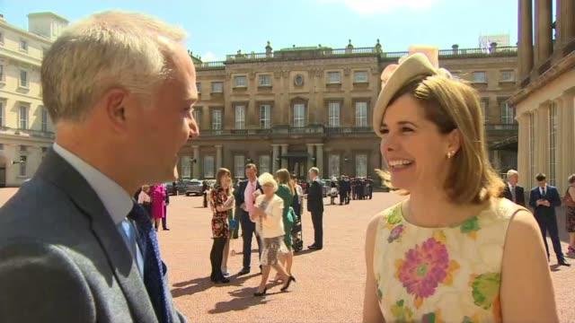 Former ballerina Darcey Bussell receives damehood ENGLAND London Buckingham Palace EXT Dame Darcey Bussell interview SOT/ Dame Darcey Bussell shows...
