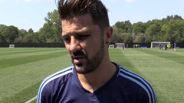 former barcelona player david villa talks about life with new york city fc the upcoming new york derby his former club neymar and his spain ambitions... - andrea pirlo stock videos & royalty-free footage