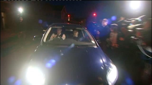 former bbc broadcaster stuart hall admits to sexually assaulting thirteen girls; 1.5.2013 cheshire: wilmslow: ext at night car carrying coronation... - såpopera bildbanksvideor och videomaterial från bakom kulisserna