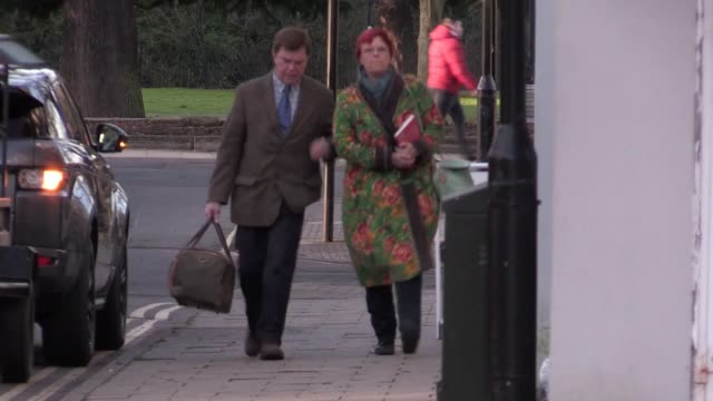 former bbc gardening expert steve brookes arrives at warwickshire justice centre in leamington spa charged with seven counts of observing a person... - leamington spa stock videos & royalty-free footage