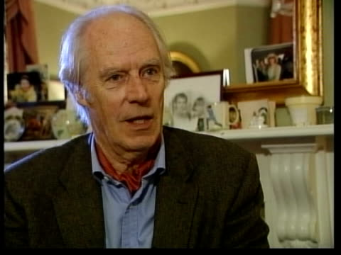 former beatle george harrison: death announced; itn london int sir george martin interview sot - talks of harrison's songwriting - george harrison stock videos & royalty-free footage