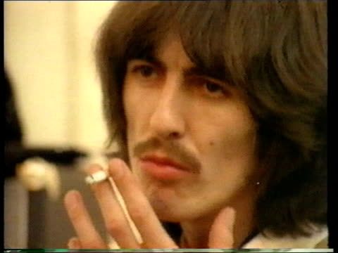 death announced lib harrison smoking cigarette - george harrison stock videos & royalty-free footage
