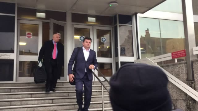 Former BHS boss Dominic Chappell leaves Brighton Magistrates' Court where he is on trial accused of failing to give information to the Pensions...