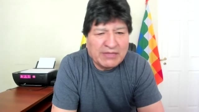 former bolivian president evo morales says he is waiting for the decision of social movements to be able to return to bolivia following luis arce's... - evo morales stock videos & royalty-free footage