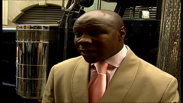 former boxer chris eubank at charing cross police station to answer bail charing cross chris eubank interview sot we need to keep pressure on / only... - charing cross stock videos and b-roll footage