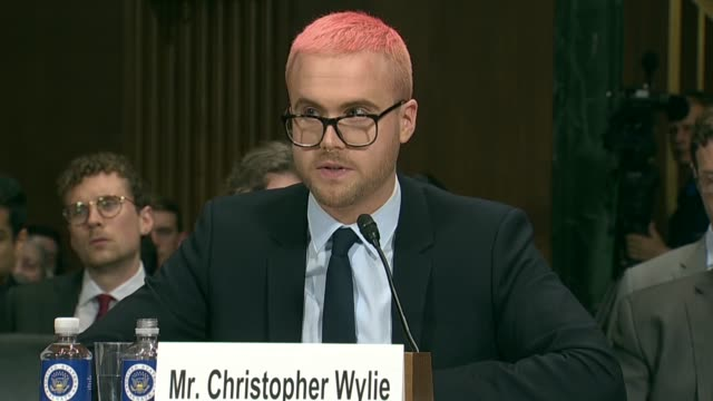 former cambridge analytica research director christopher wylie tells members of the senate judiciary committee at a hearing on data privacy that... - paranoia stock videos & royalty-free footage