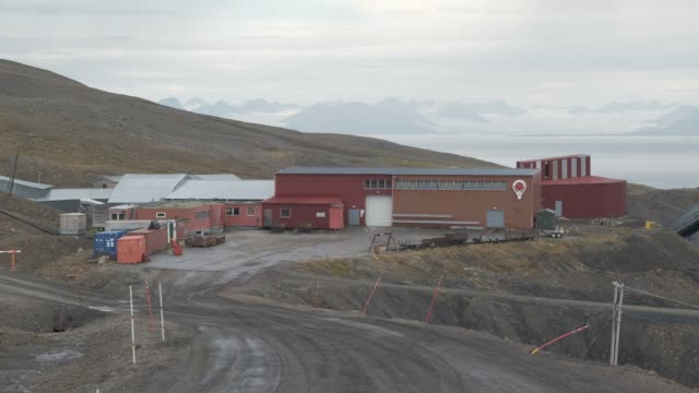 former coal mine number 3, which is home to the arctic world archive that will include the github arctic code vault, stands on svalbard archipelago... - number 3 stock videos & royalty-free footage