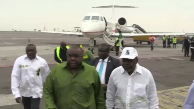 Former Congolese vice president and opposition leader Jean Pierre Bemba makes his second comeback to Kinshasa since his conviction was overturned in...