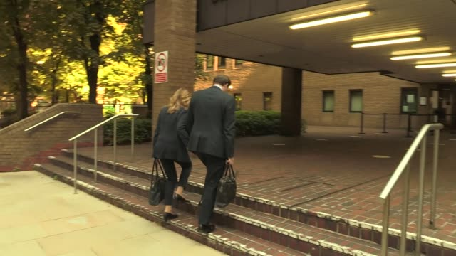 former conservative mp charlie elphicke, with his wife and mp for dover natalie elphicke, arriving at southwark crown court in london where he is on... - 2010 2019 stock videos & royalty-free footage