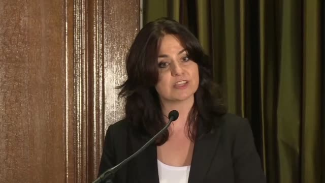 former conservative mp heidi allen announces that she and two other mps are quitting their party to join a new bloc the independent group blaming... - former stock videos and b-roll footage