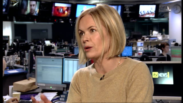 former countryfile presenter wins ageism case against the bbc; england: london: gir: mariella frostrup interview sot - mariella frostrup stock videos & royalty-free footage