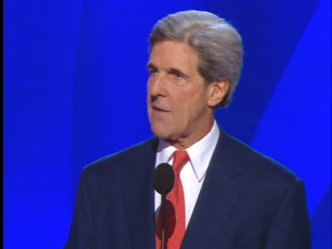 former democratic presidential candidate, john kerry, says us president george w. bush and us senator john mccain misled the united states by... - president stock videos & royalty-free footage
