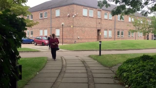 former eastenders actor turned youth worker joseph shade of sheringham norfolk leaves norwich crown court he admitted six sexual offences against... - イーストエンダーズ点の映像素材/bロール