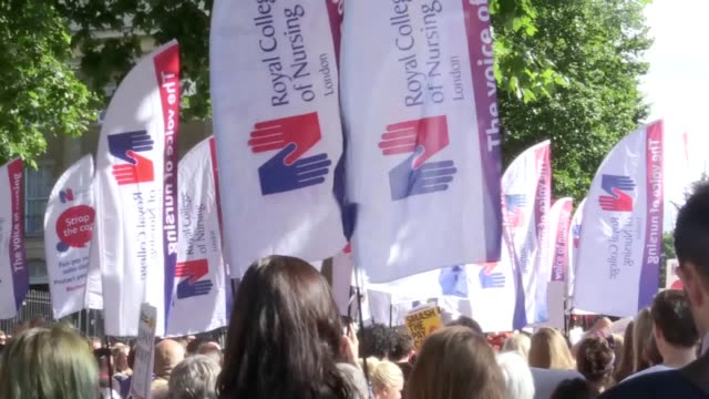 former eastenders star maddy hill hailed britain's nurses as backbone of our national health service as she urged them to fight for the government to... - eastenders stock videos and b-roll footage