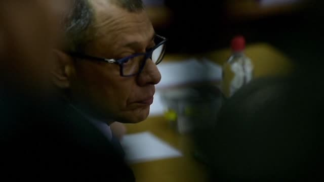 Former Ecuadorean Vice President Jorge Glas serving a six year prison sentence for graft is taken to hospital following a three week hunger strike