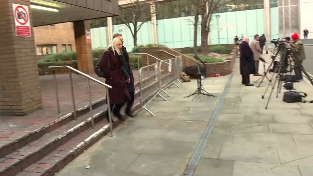 former election agent nathan gray acquitted in expenses trial england london southwark crown court ext nathan gray from court with others following... - サウスワーク刑事法院点の映像素材/bロール