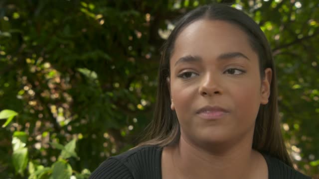 former employees of british gymnastics allege that claims of abuse were delayed or not taken seriously england ext aasha kimpton interview sot - itv news at ten stock videos & royalty-free footage