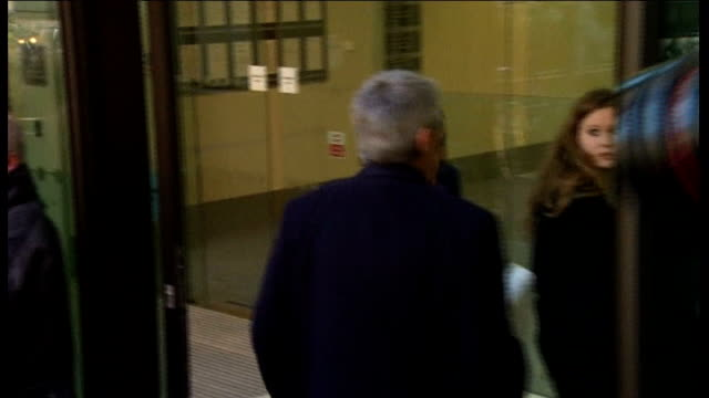 former energy secretary chris huhne and wife appear in court for speeding case england london westminster magistrates court photography *** back view... - ビッキー・プライス点の映像素材/bロール