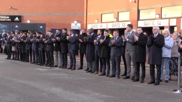 former england and west brom striker cyrille regis' funeral cortege leaves the club's hawthorns stadium applauded by fans staff including manager... - funeral procession stock videos & royalty-free footage